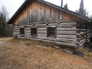 Historic log cabin at the four corners